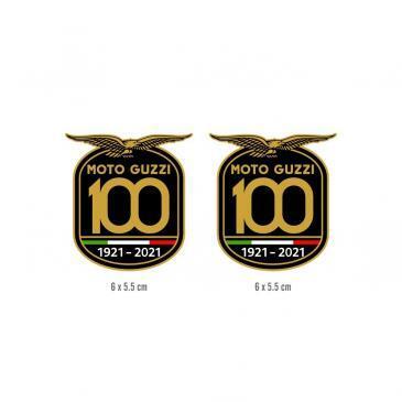 2 Adesivi 100 anni Moto Guzzi