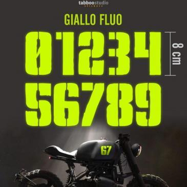 2 stickers Numeri moto Cafe Racer