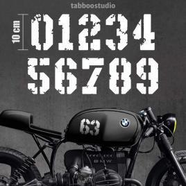 2 Numeri moto Cafe Racer
