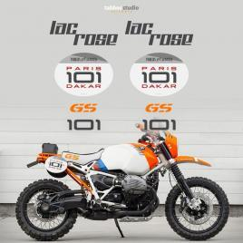 BMW R Ninet Paris Dakar 101 Concept Lac Rose